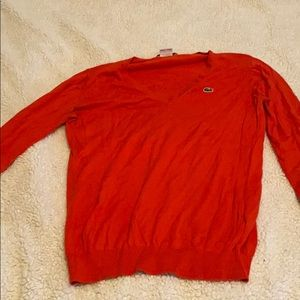 Lacoste sweater v neck.
